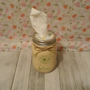 homemade Accents - Tissue Mason Jar/Floral Lid